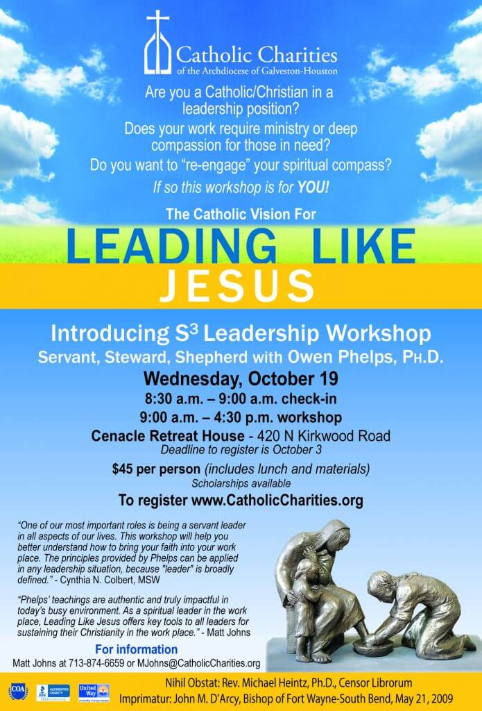 Leading Like Jesus Workshop - Catholic Charities of the Archdiocese
