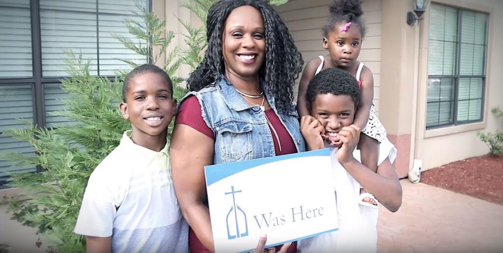 Yashika Olgesby, a single mother of four and a veteran of the U.S. Navy, was able to find employment to support her children and is now attending school to become a counselor thanks to Catholic Charities.