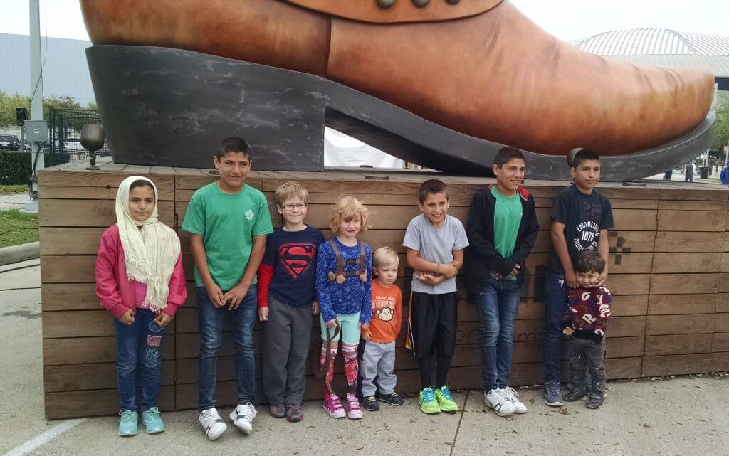 The Griffins took the Noor family to the Houston Livestock Show and Rodeo in March 2016.