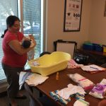Nadia attends a Blessed Beginnings prenatal class.
