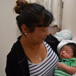 Sonia and her newborn son received assistance through Catholic Charities, thanks to you.