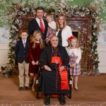 Kyle and Kristie Kafka and family at A Cardinal's Christmas