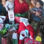 Refugee children receive gifts through Catholic Charities' Share Your Blessings program.