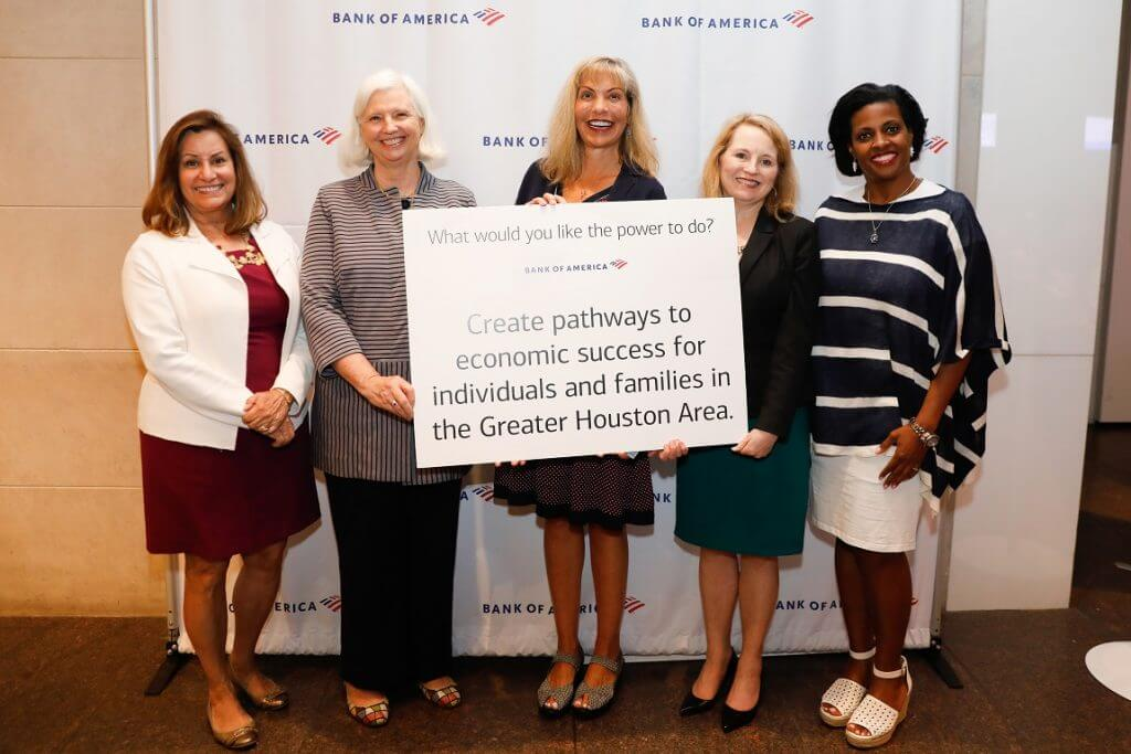 Bank of America awarded Catholic Charities a grant to provide food and emergency financial assistance to families in need.