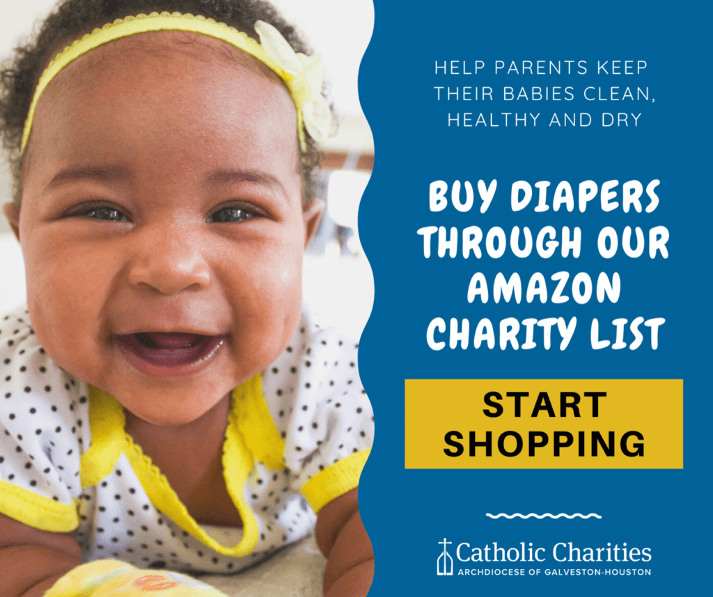 Shop for diapers and baby essentials now on Amazon to support Catholic Charities' Blessed Beginnings program