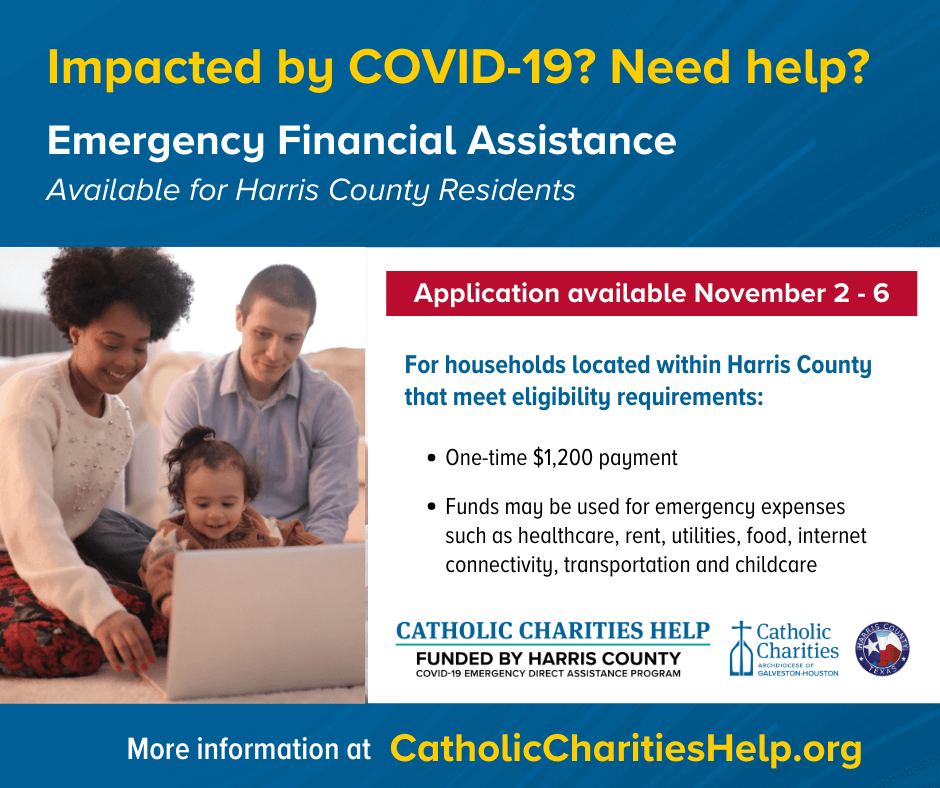Harris County COVID-19 Emergency Direct Assistance Fund - CatholicCharitiesHelp.org