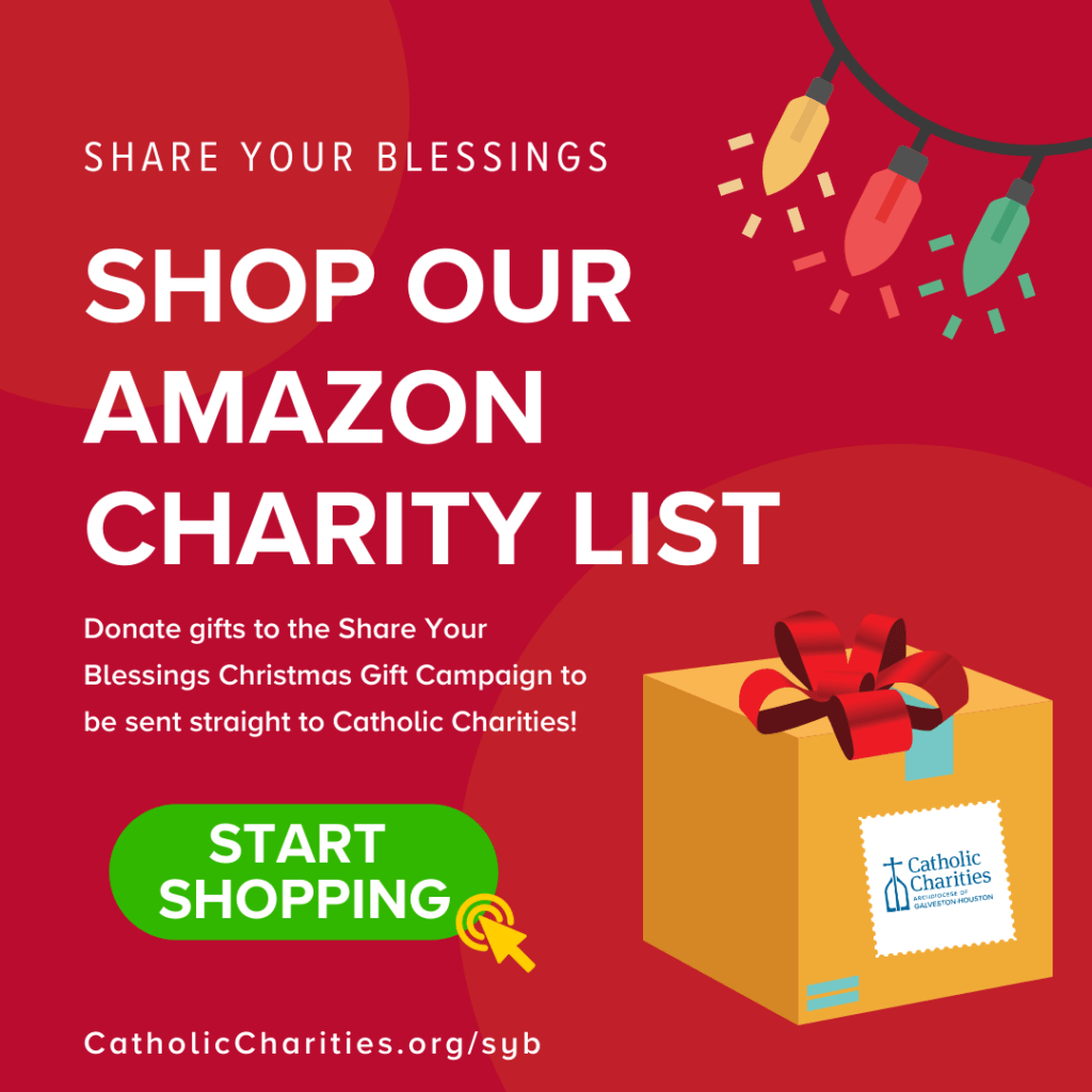 Shop our Share Your Blessings Amazon Charity List