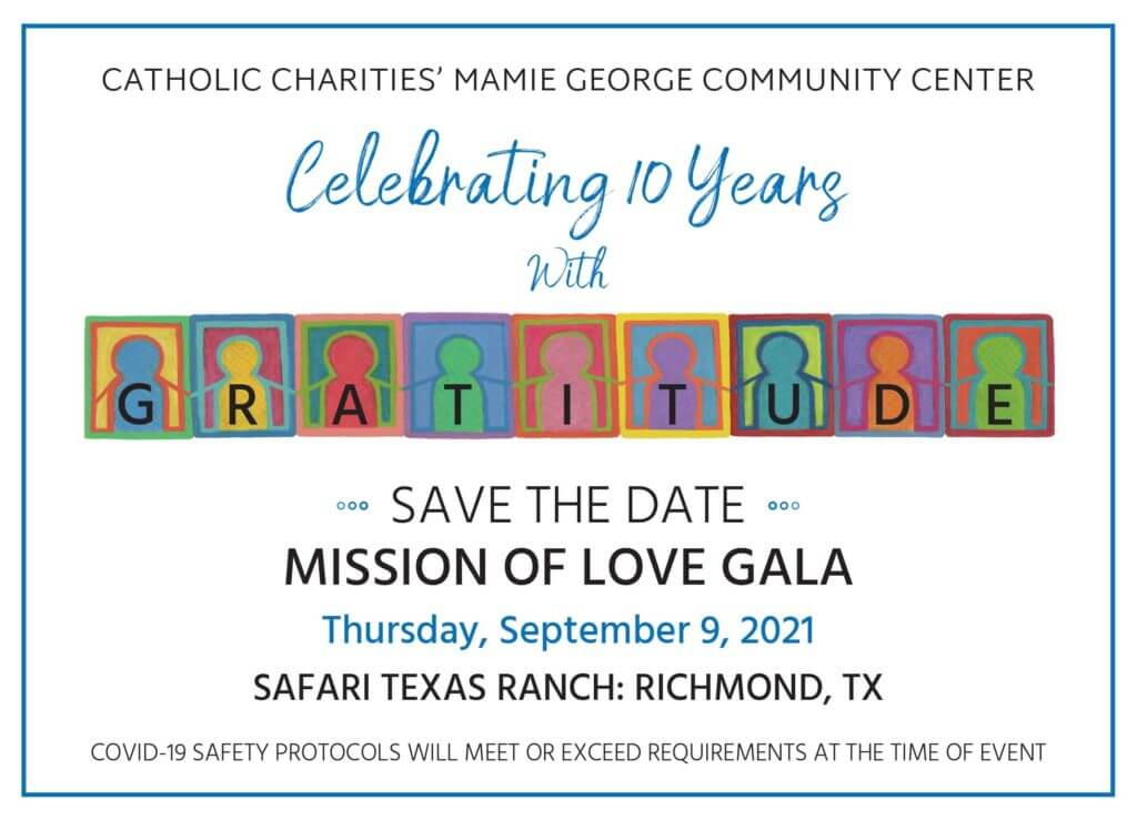 2021 Mission of Love Save the Date!