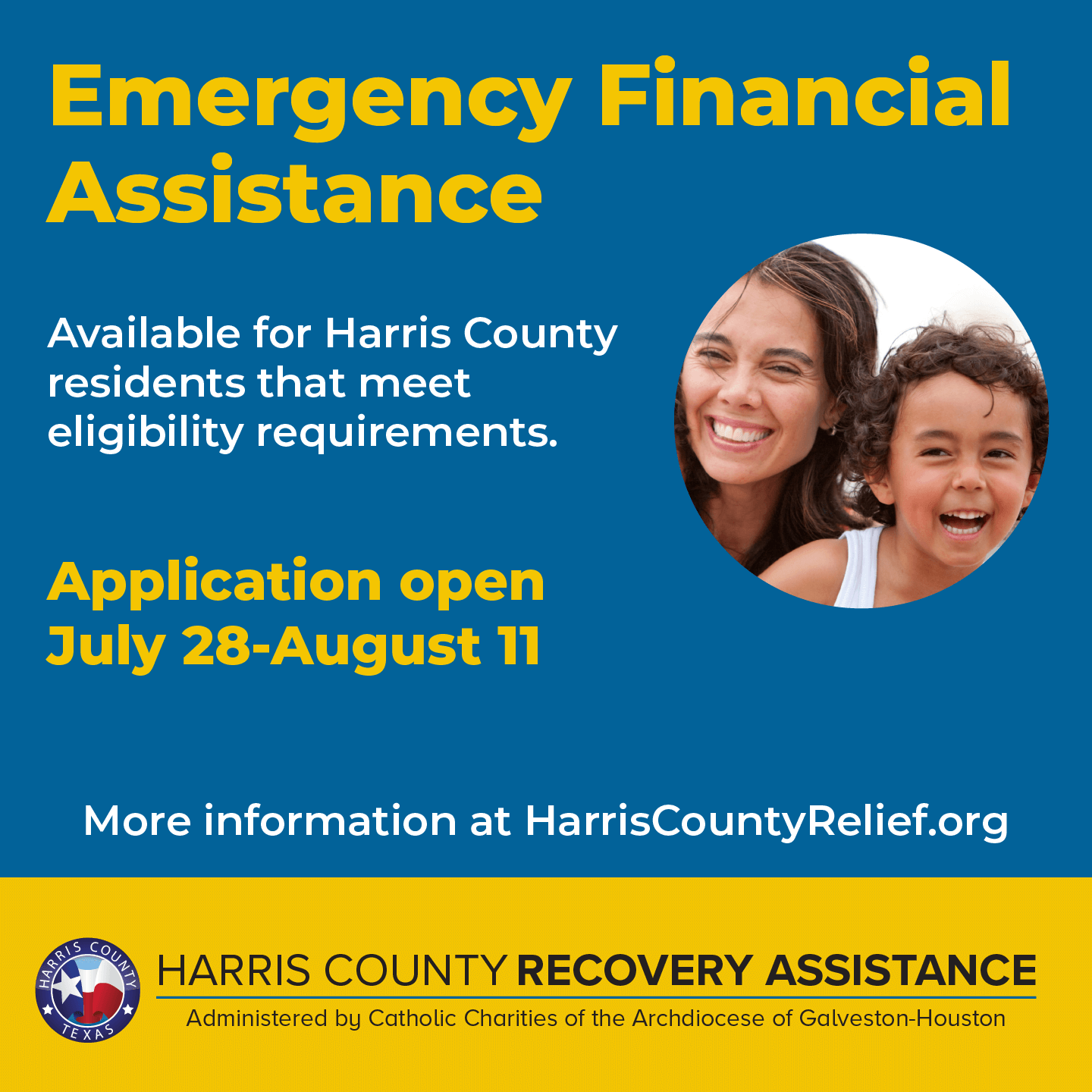 Harris County Launches New $30 Million COVID Relief Fund for Struggling Families